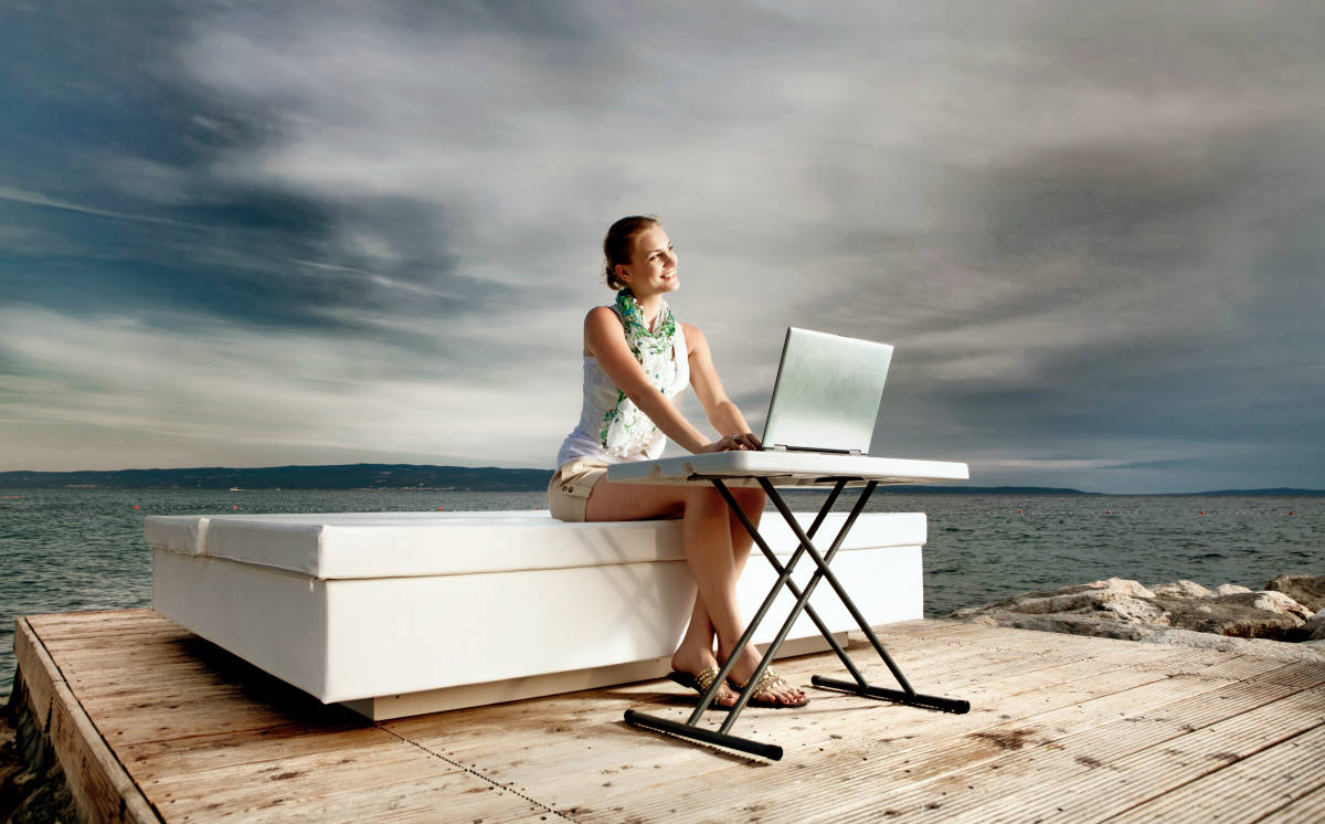 woman with her office outdoor